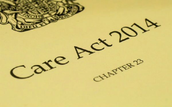 The front cover of the Care Act 2014