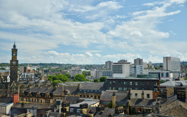 Image of Bradford skyline (image: John Farman via Wikimedia Commons)