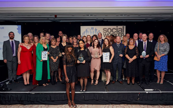 Image of the 2017 Social Worker of the Year Awards winners