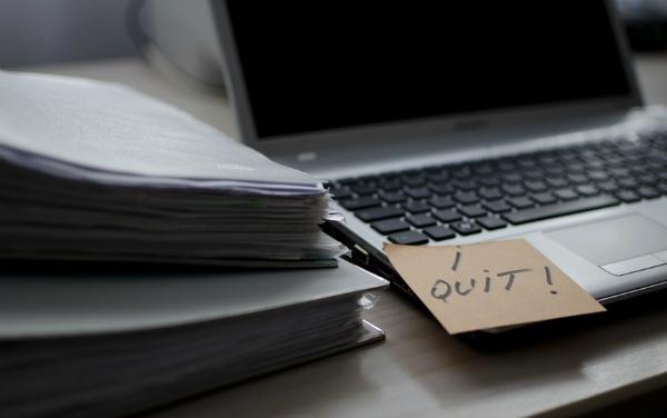 leaving job, resignation