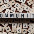 Letters spelling Community