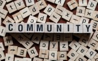 Letters spelling Community
