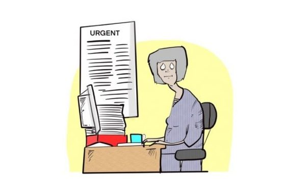 Social work cartoon: 'Retirement'