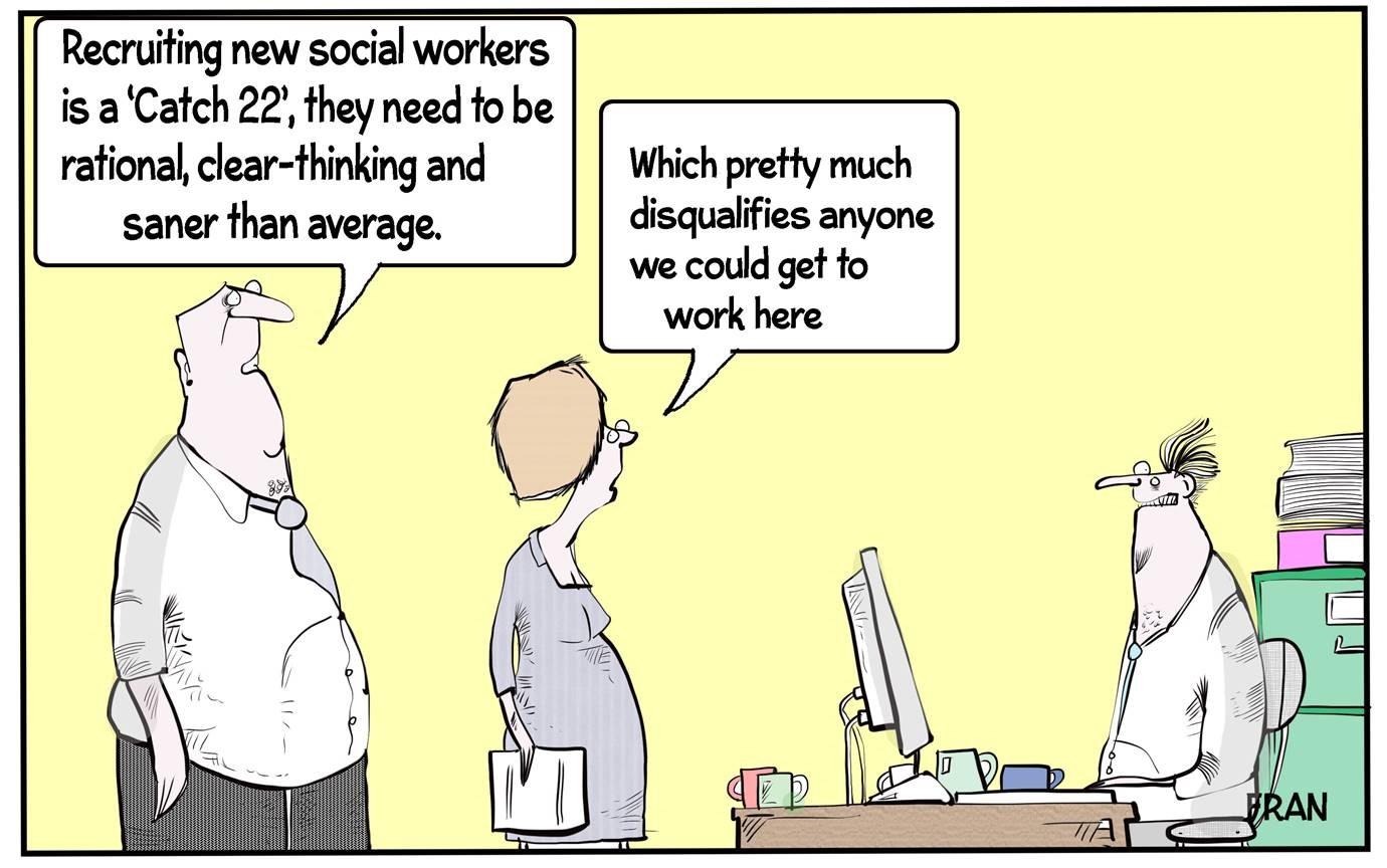 Social Work Cartoon Recruitment