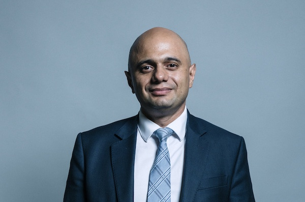 Image of Sajid Javid, the chancellor of the exchequer (image: UK Parliament / Wikimedia Commons)
