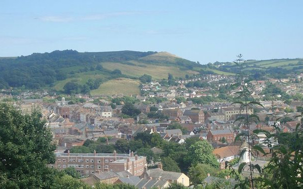 Image of Bridport, where a Dorset teenager had to live on caravan parks because of a lack of specialist accommodation (credit: MajesticEli / Wikimedia Commons)