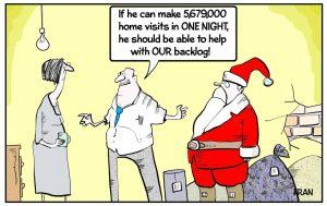 father christmas cartoon