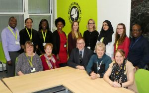 Buckinghamshire social workers with councillors Warren Whyte and Netta Glover