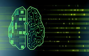 Digital image of brain and binary data flow signifying machine learning (credit: Elnur / Adobe Stock)