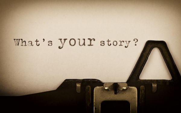 Image of typed text saying 'What's your story?' signifying life experience (credit tech_studio / Adobe Stock)