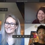 Social workers on a virtual meeting