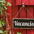 Old metal sign with the inscription Vacancies