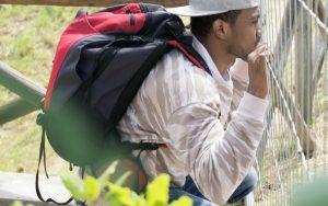 Young asylum seeker