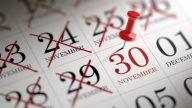 November 30 written on a calendar to remind you an important appointment.