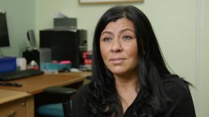 """A Roma community champion who features in the film """"Keeping our children safe' produced by Law for Life and Roma Support Group'"""