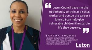 Sancha Thomas, Luton Borough Council