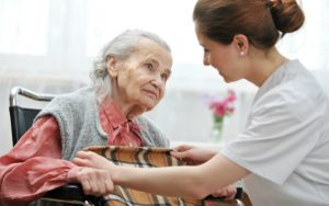 Care home resident and worker