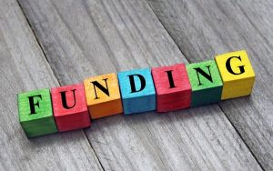 Blocks spelling out the word 'funding'
