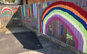A mural designed by children at Orchard House children's home in West Sussex