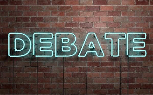 Debate sign