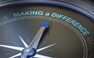 A dial pointing at the words 'Making a difference'