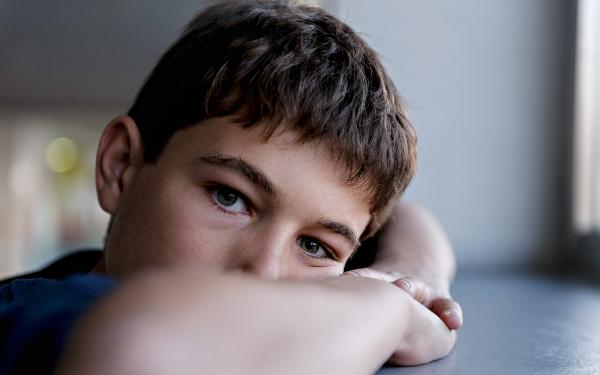 Boy looking pensive