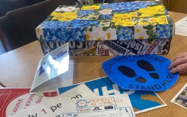 Moment in Time Covid-19 remembrance campaign time box